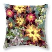 Mixed Floral Throw Pillow