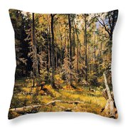 Mixed Forest Throw Pillow