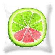 Mixed Lemon Throw Pillow