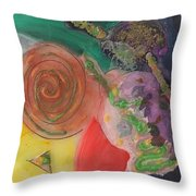 Mixed Media Abstract 15-c11  Throw Pillow