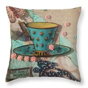 Mixed Media - Coffee Cup  Throw Pillow