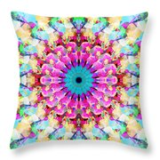 Mixed Media Mandala 9 Throw Pillow