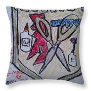 Mixed-media Mobb Throw Pillow