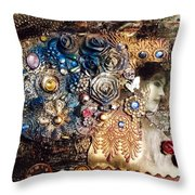 Mixed Media - Vintage Princess Throw Pillow