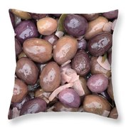 Mixed Olives Throw Pillow