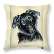 Mixed Race Paula Throw Pillow