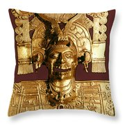 Mixtec: God Of The Dead Throw Pillow