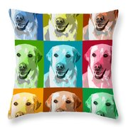 Golden Retriever Warhol Throw Pillow