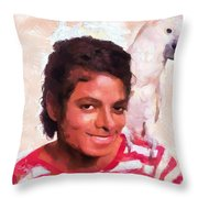 Mj And Polly Throw Pillow