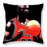 Mj Focus Throw Pillow