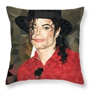 Mj Low Poly Throw Pillow