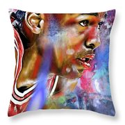 Mj Painted Throw Pillow