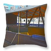 Mv  Krait In Darling Harbour Sydney Throw Pillow