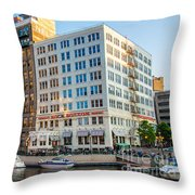 Mke River Twilight Throw Pillow