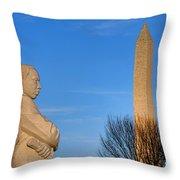 Mlk And Washington Monuments Throw Pillow