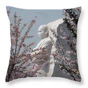 Mlk Blossoms Throw Pillow