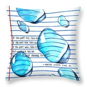 Mlk Love Note Throw Pillow