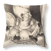 Mlle. Etienne-goconde-cun?gonde-b?cassine Throw Pillow