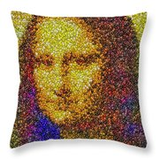 Mm Candies Mona Lisa Throw Pillow