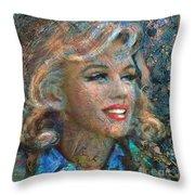 Mm Ice Blue Throw Pillow