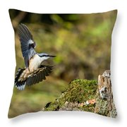 Mmm Peanuts Throw Pillow