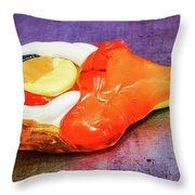 Mmmm Lollipop Throw Pillow