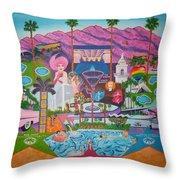 mmmm... Palm Springs Throw Pillow