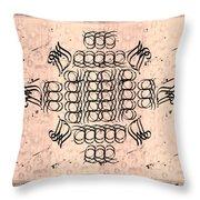 Mmonogram Stripes Lite Mauve Charcoal Throw Pillow