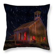 Moab Schoolhouse Star Trails Throw Pillow