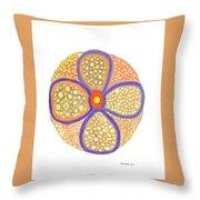 Moasic Flower Throw Pillow