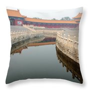 Moat Forbidden City Beijing Throw Pillow