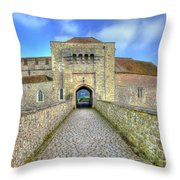 Moat House Leeds Castle Throw Pillow