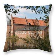 Moated Castle Herten II Throw Pillow