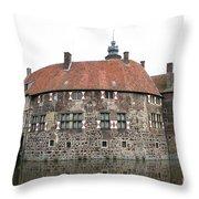 Moated Castle Vischering Throw Pillow
