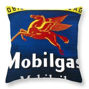 Mobil Advertisement, 1935 Throw Pillow
