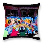 Mobile Mardi Gras Throw Pillow