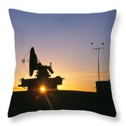 Mobile Radar, White Sands Throw Pillow