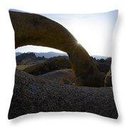 Mobius Arch Alabama Hills California 2 Throw Pillow