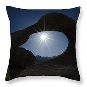 Mobius Arch Alabama Hills California 3 Throw Pillow