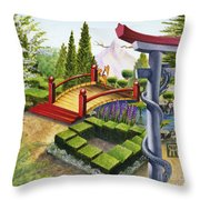 Mobius Gardens Throw Pillow