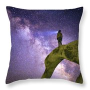 Mobius Milky Way Throw Pillow
