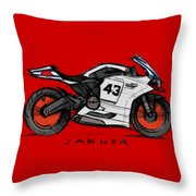 Moby Duc Throw Pillow