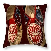 Moccasins Throw Pillow