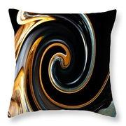 Mocha Swirl Throw Pillow