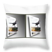 Mockingbird - Gently Cross Your Eyes And Focus On The Middle Image Throw Pillow