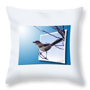Mockingbird Branch Throw Pillow