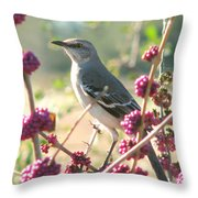 Mockingbird Heaven Throw Pillow