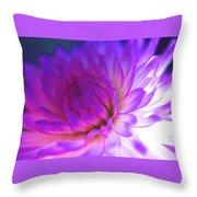 Mod Dahlia Throw Pillow by Kathy Yates