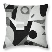 Mod, Grayscale Throw Pillow