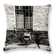 Mode Of Transport In Bruges Throw Pillow